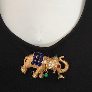 Vintage Elephant Estate Carlyle Signed Pin